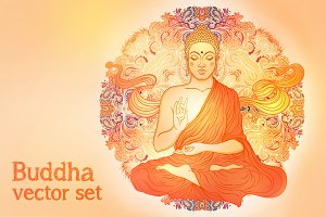 Sitting Buddha Illustrations