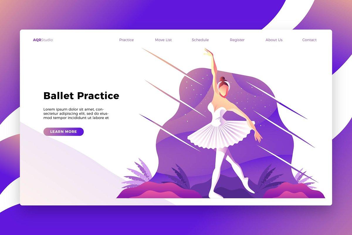 Ballet - Banner & Landing Page