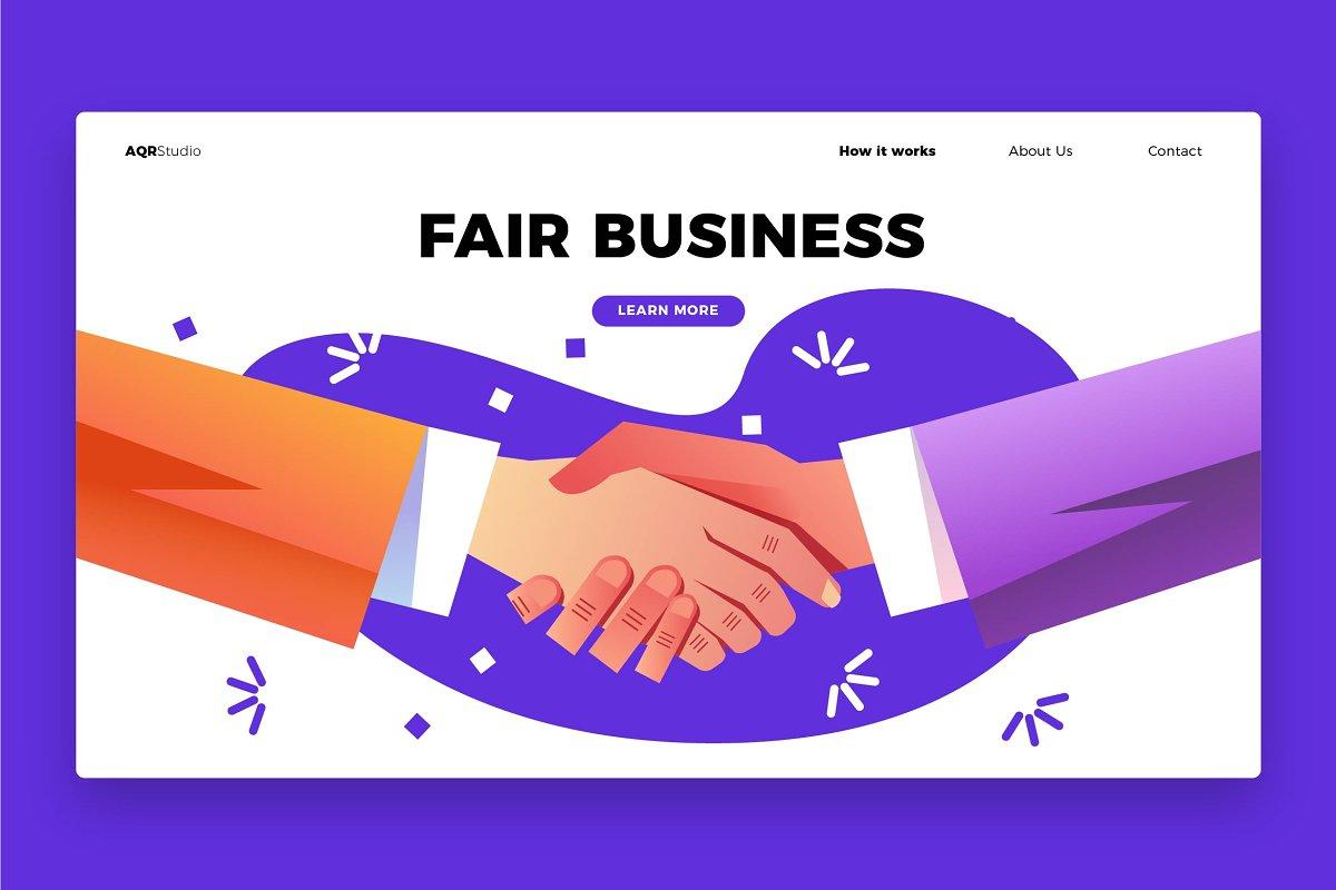 Fair Business - Banner & LandingPage