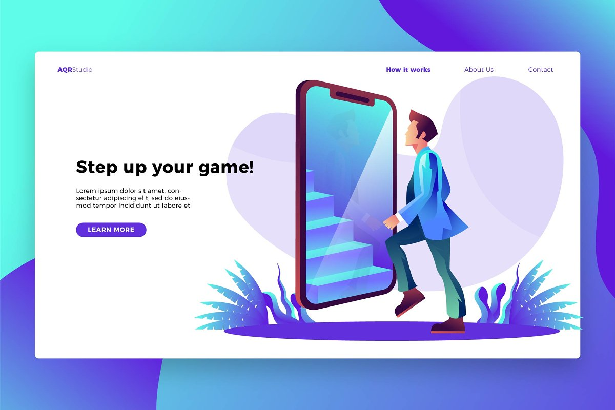 Step up - Banner & Landing Page