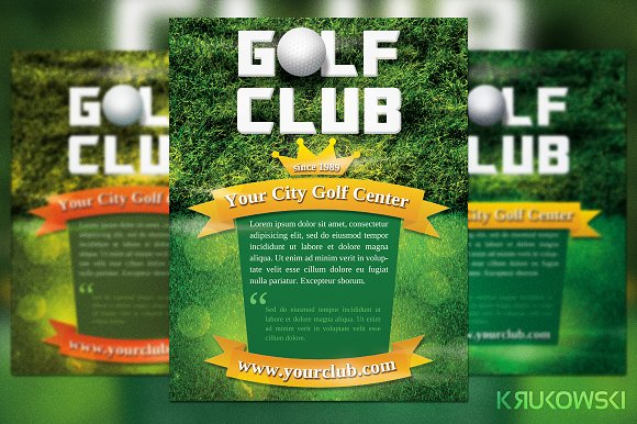 Golf Club Flyer Template in Flyer Templates
