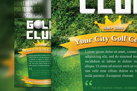 Golf Club Flyer Template in Flyer Templates - product preview 1