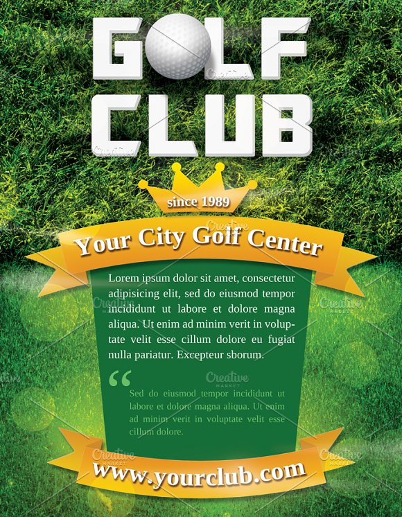 Golf Club Flyer Template in Flyer Templates - product preview 2