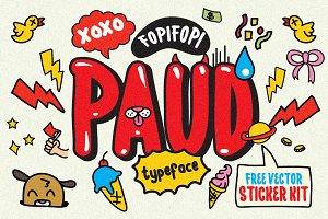PAUD Typeface & Bonus