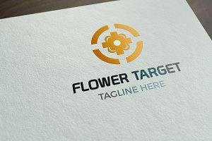 Flower Target Logo Template
