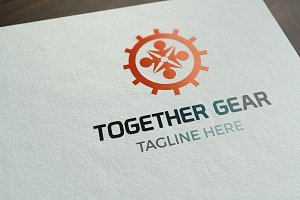 Together Gear Logo Template