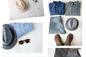 Set of various clothes and accessori