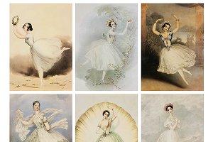 Vintage Ballerina Fairy Collage