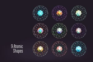 9 atomic shapes