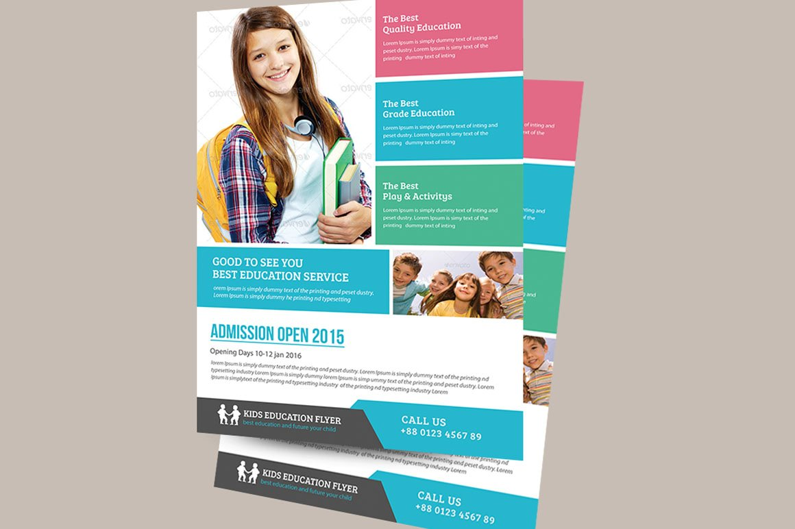 Education Flyer Template ~ Flyer Templates ~ Creative Market