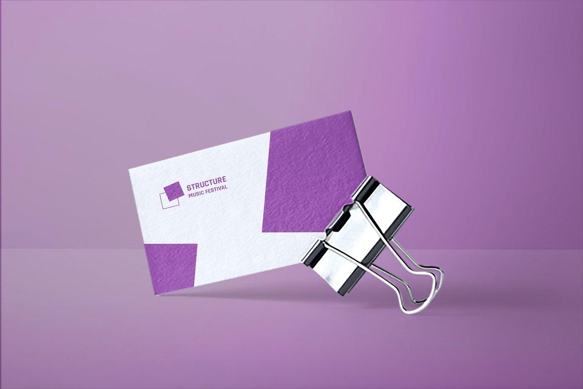 Music Festival Business Card