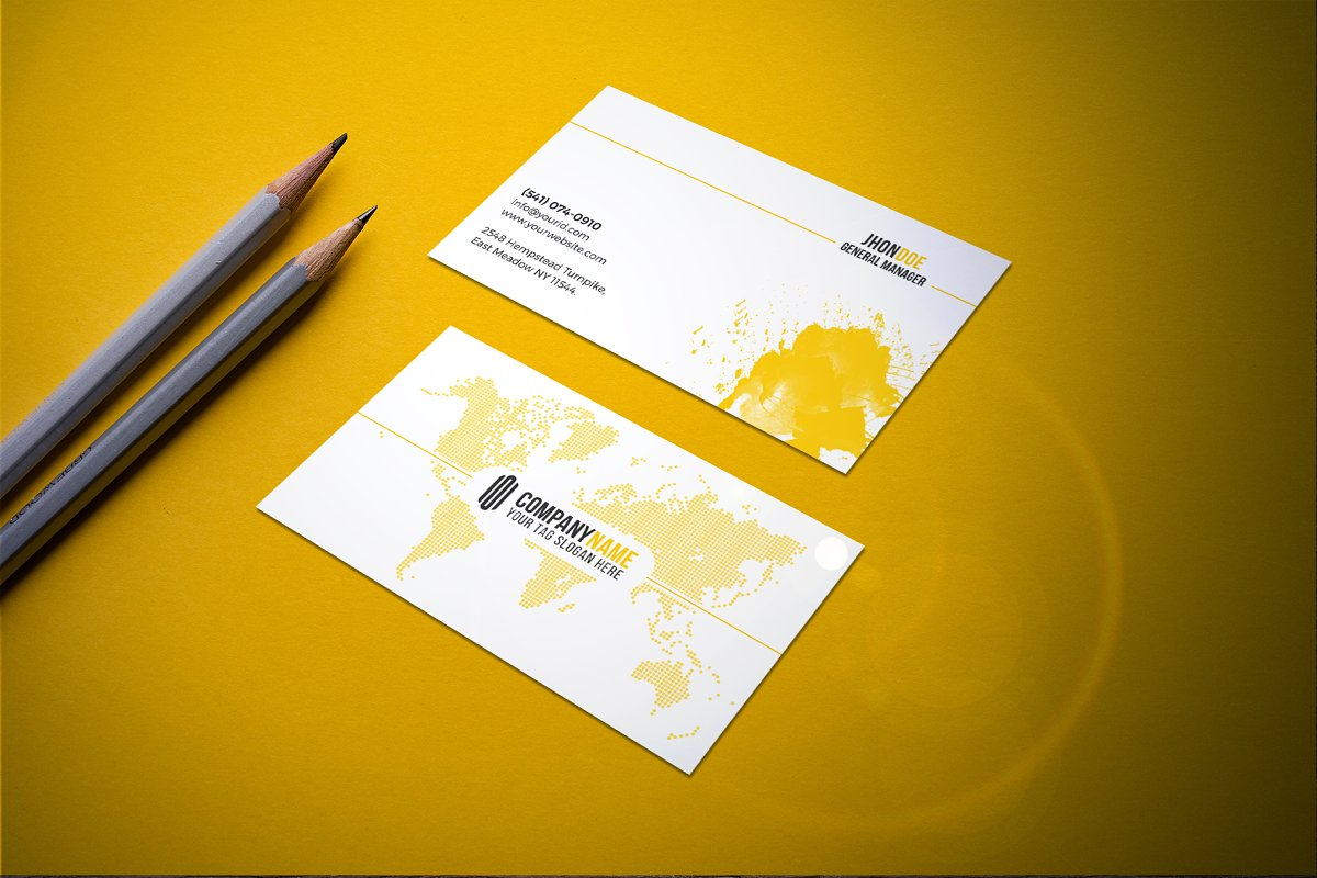 Modern & Clean Business  Card in Business Card Templates - product preview 3