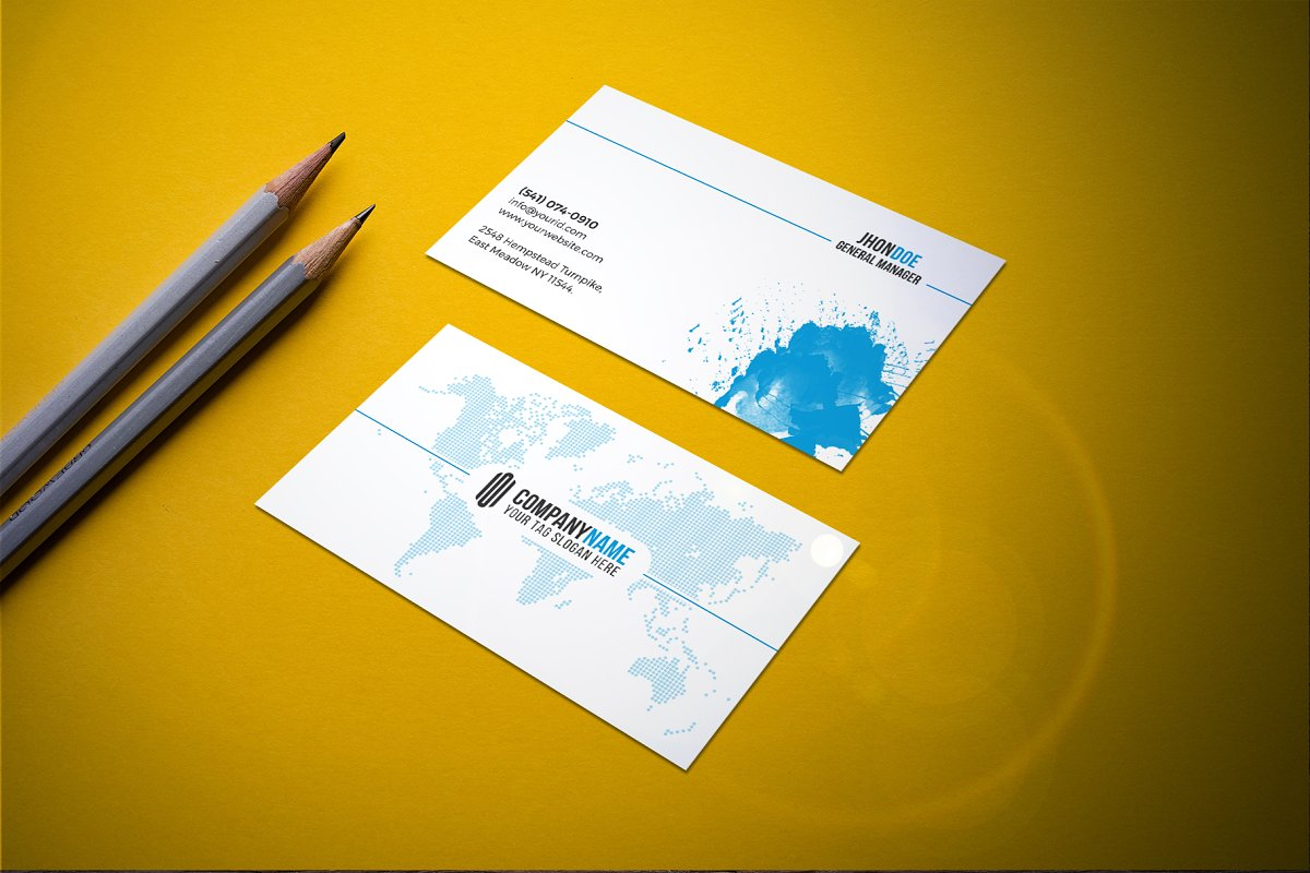 Modern & Clean Business  Card in Business Card Templates - product preview 1