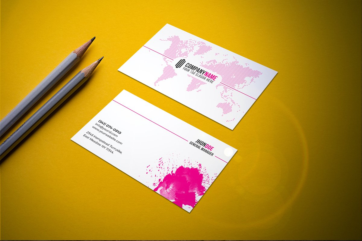 Modern & Clean Business  Card in Business Card Templates - product preview 2