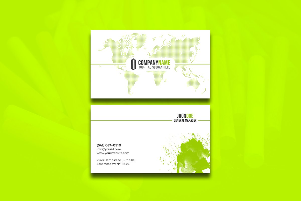Modern & Clean Business  Card in Business Card Templates - product preview 9