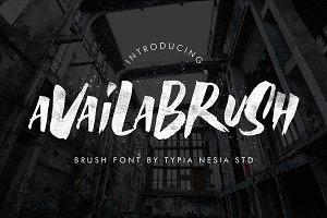 AvailaBrush Font