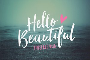 Hello Beautiful Font Duo + Swashes