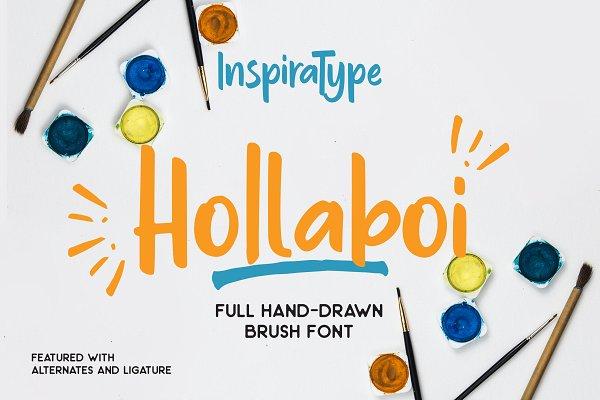 Hollaboi - A Hand-Drawn Brush Font