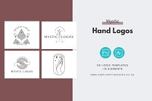Mystic Hand Logos by  in Logos