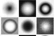 Halftone dots circles