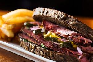 American reuben sandwich