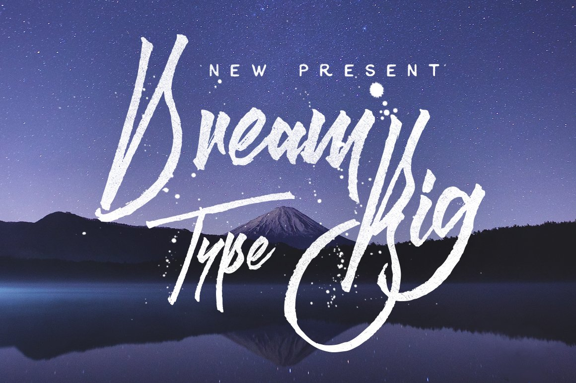 Dream Big Display Fonts Creative Market