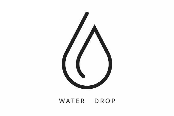 water drop logo vector template logo templates creative market