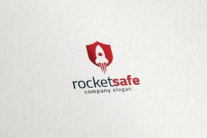 Rocket Shield - Startup Launch Logo