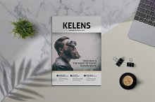 KELENS - Clean Magazine Template by  in Magazines