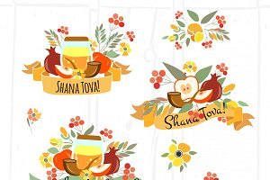 Rosh Hashanah Card Set