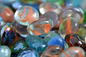 Colored Playing Marbles