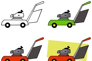 Lawn Mower. Collection Set