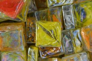 Colored Square Stones