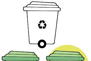 Green Recycle Bin Collection