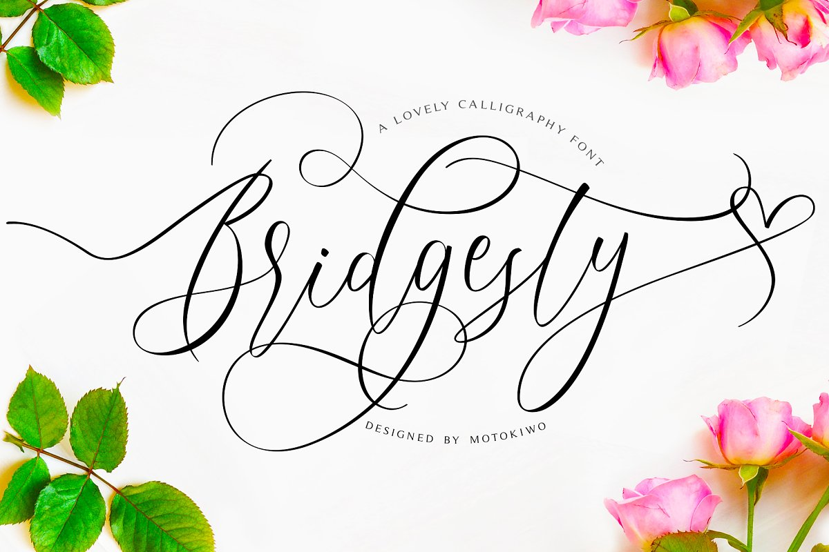 Bridgesty - Lovely Calligraphy Font
