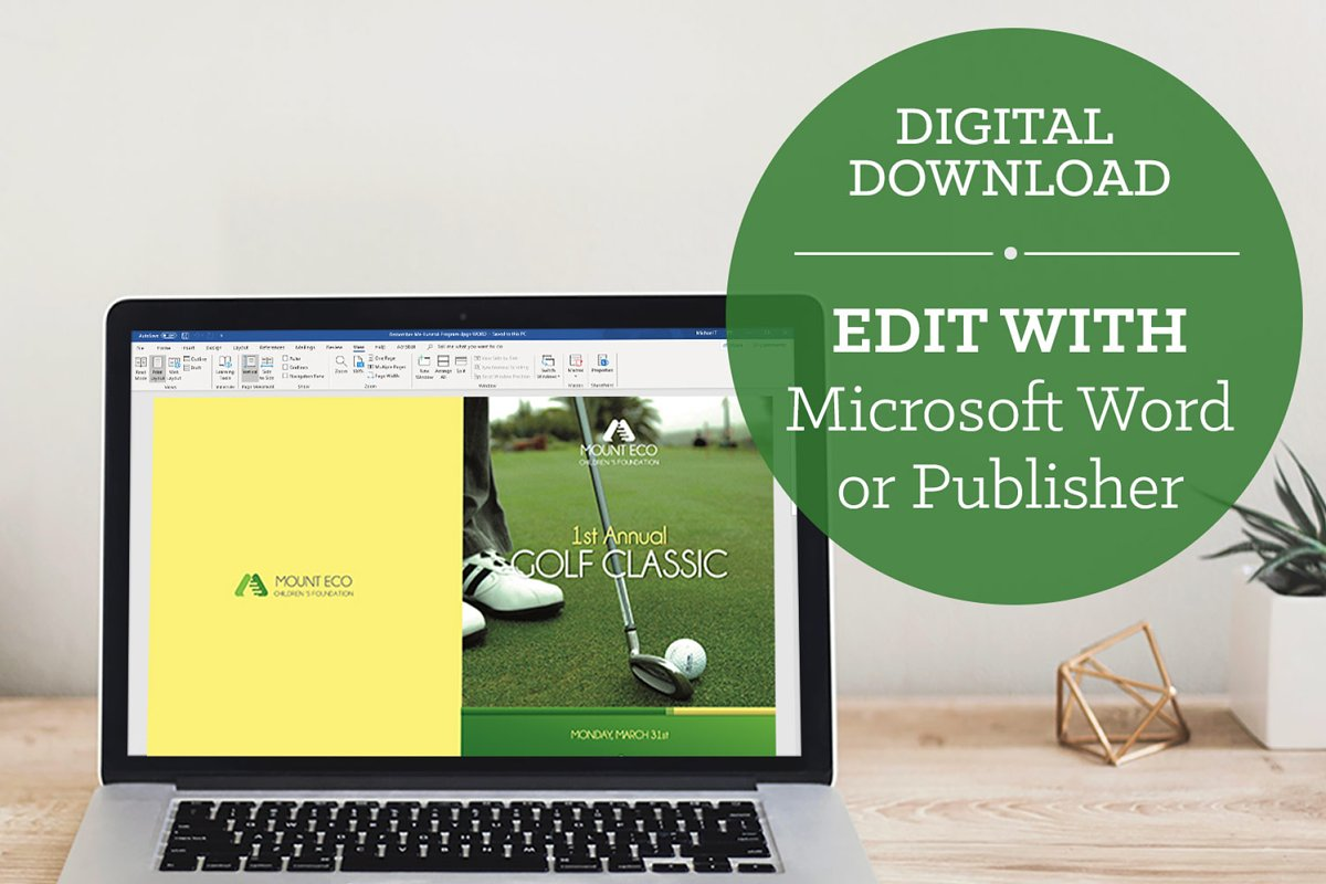 Charity Golf Booklet Publisher Word