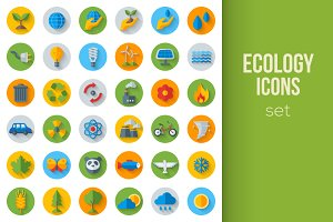 Eco Icons on Circles