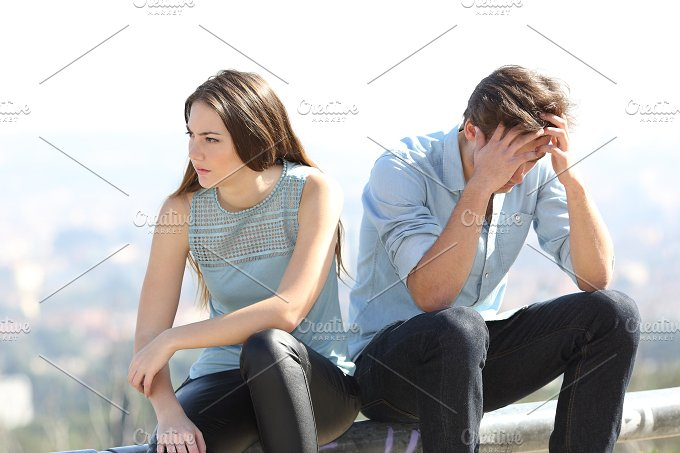 Bad girl arguing with her couple breakup concept.jpg - People