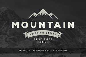 20 Mountain logos and badges