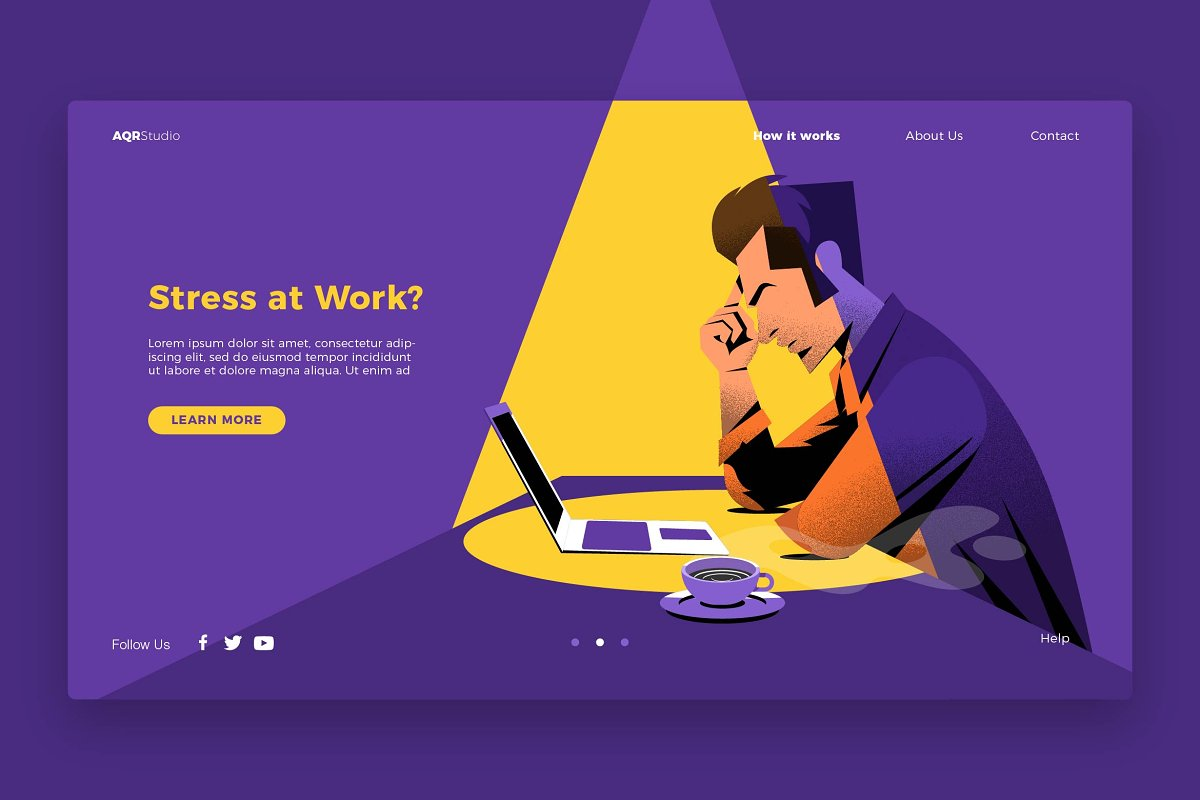 Work Stress - Banner & Landing Page