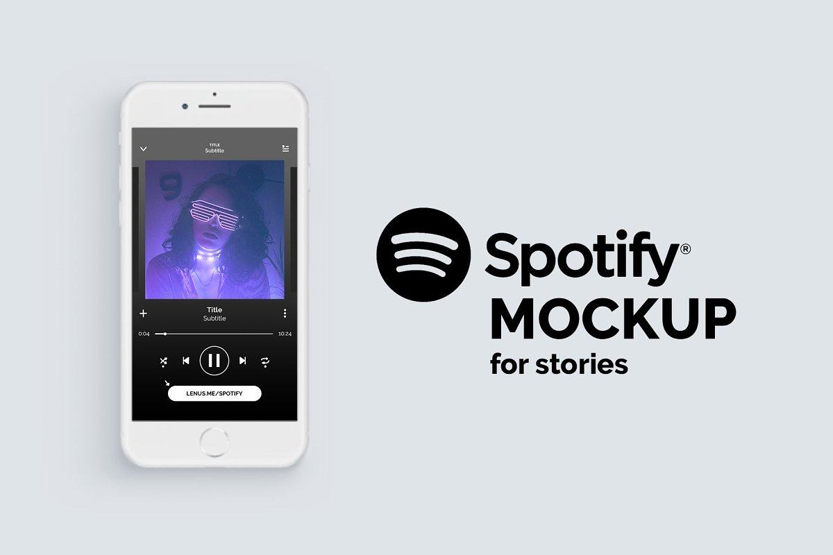 Spotify Mockup for Instagram Stories