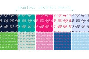 Abstract hearts.