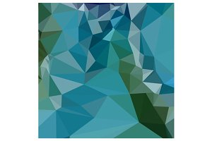 Bright Turquoise Blue Abstract Low P