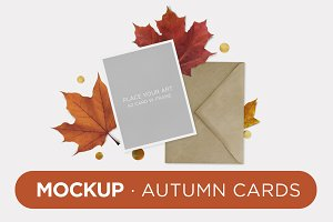 Mockup · Autumn Cards