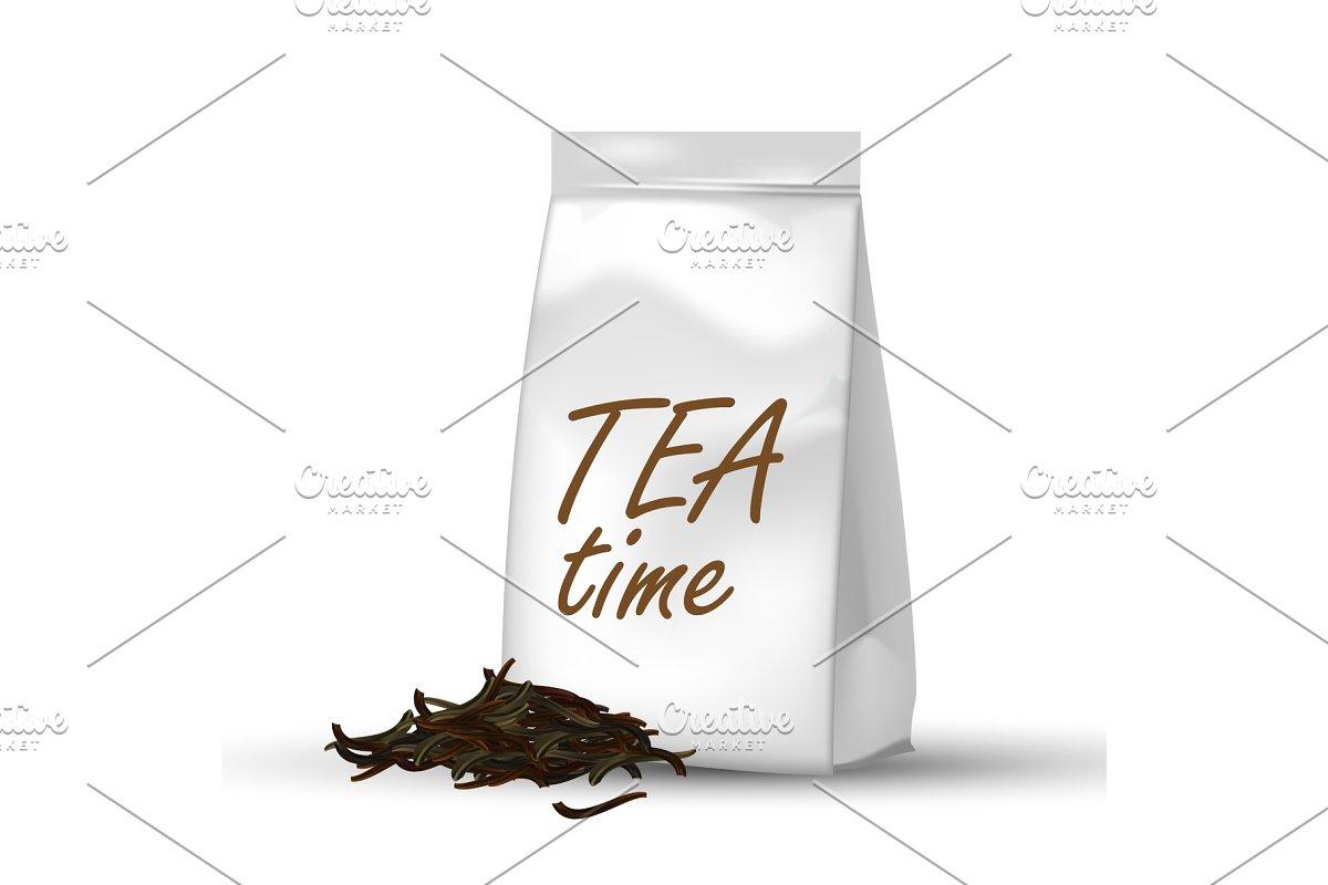 Tea Package, White Paper Bag 3D