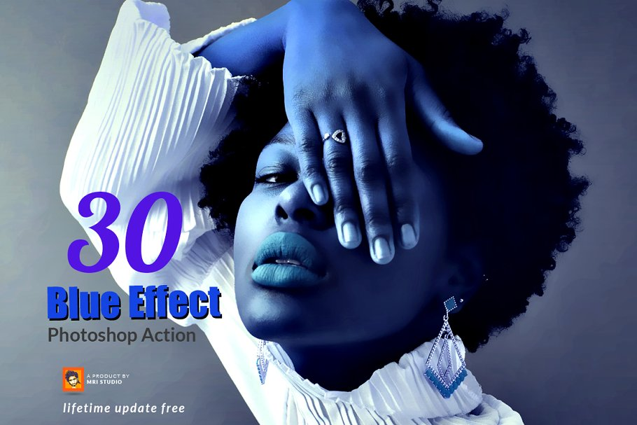 30 Blue Effect Photoshop Action
