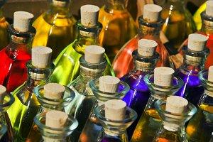 Parfum bottles. Essence