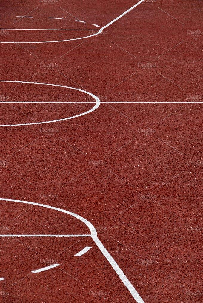 Basketaball playground in red.jpg - Sports