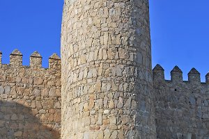Spain. Tower of the wall in Avila.