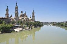Ebro river. Zaragoza. Spain
